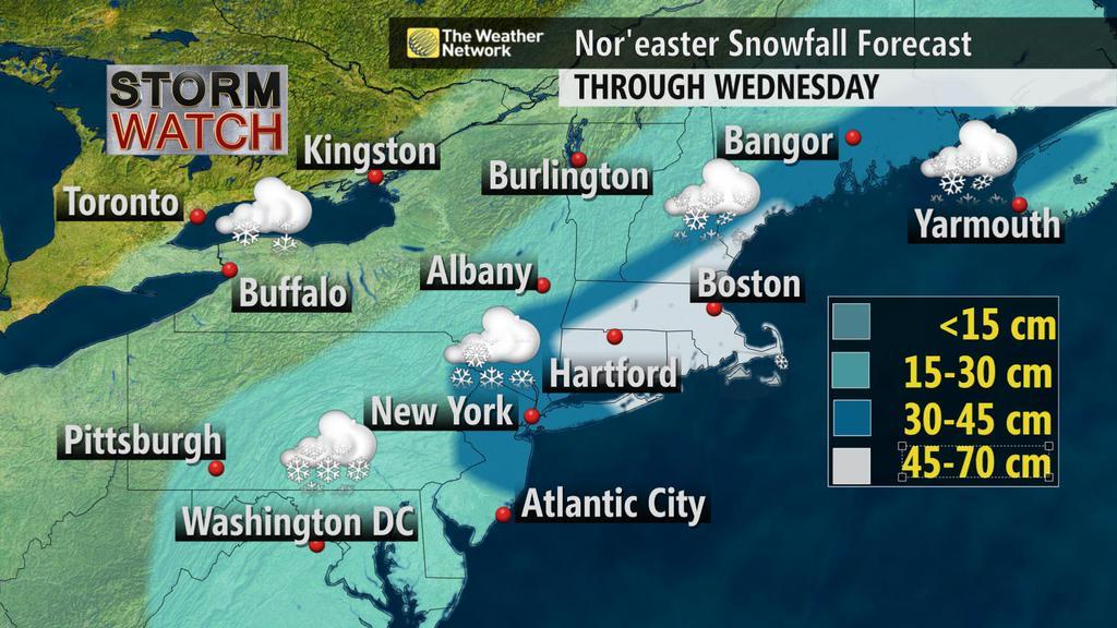 50 millones de personas en estado de alerta por un temporal de nieve histórico en EE.UU.