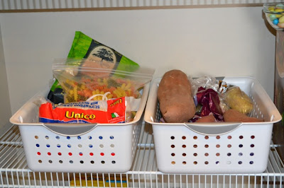 Using Baskets to Organize the Pantry