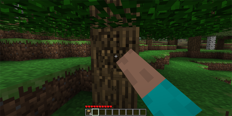 Image result for minecraft chopping wood