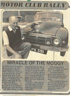 Doug Curl with his Morris Minor