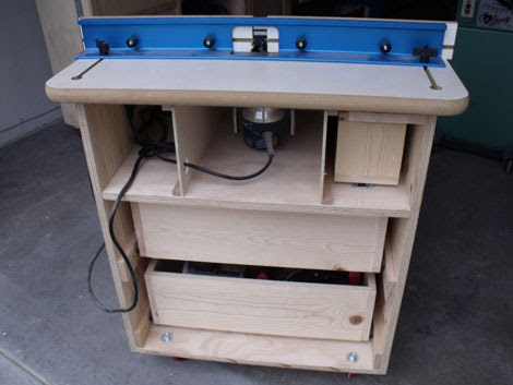 Building router table cabinet omahdesigns net for Ana white router table