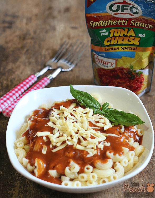 UFC Spaghetti Sauce with Real Tuna and Cheese