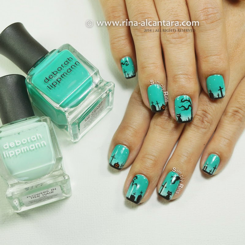 Graveyard, Too Nail Art on Deborah Lippmann She Drives Me Crazy