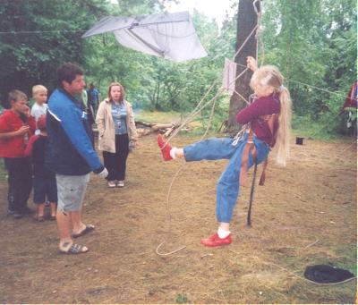 обучение навыкам лазанья по верёвкам
