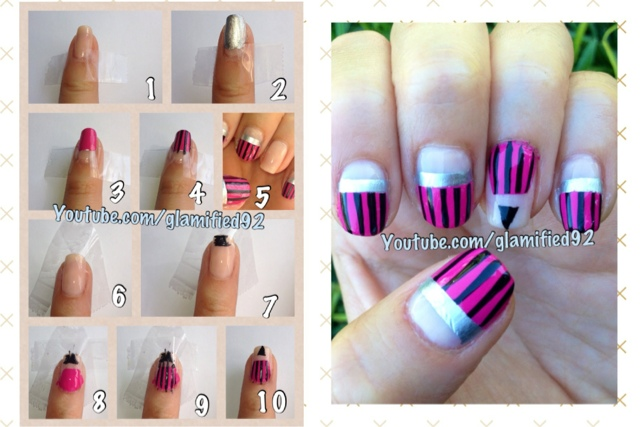 Glamified92 2015 easy back to school nails cute pink pencil nail 2015 easy back to school nails cute pink pencil nail art design prinsesfo Gallery