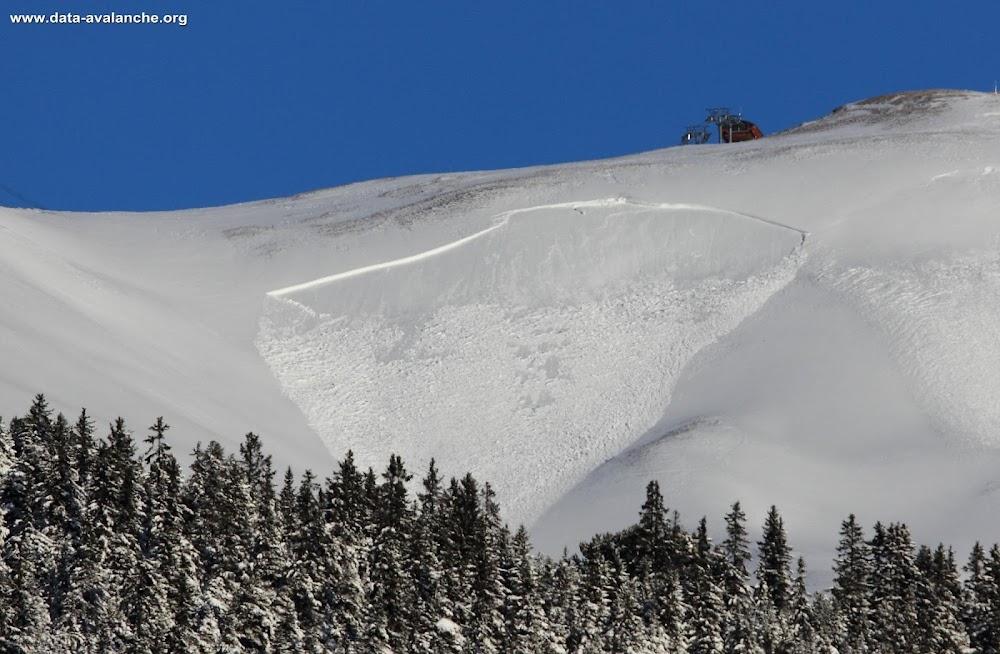 Avalanche Vanoise, secteur Dent Parrachée, Domaine skiable d'Aussois - Photo 1
