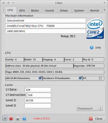 I-Nex running on Xubuntu