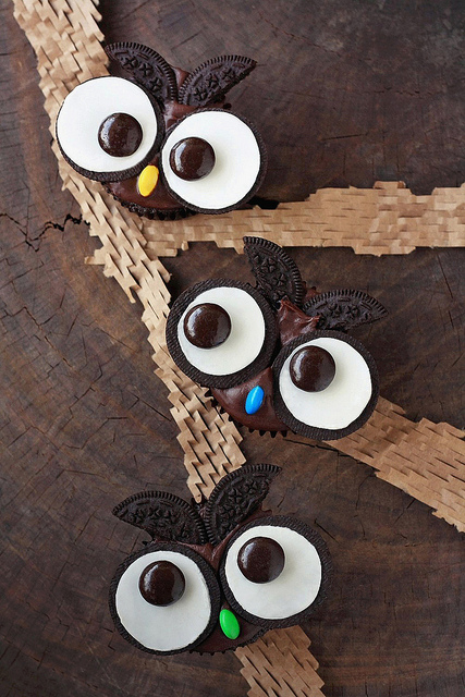 Oreo Cookies & Cream Owl Cupcakes