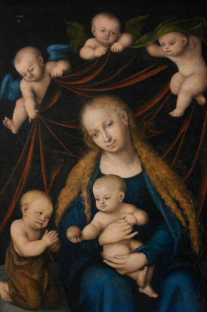 Lucas Cranach the Elder - Virgin, Child, St. John the Baptist and Angels.