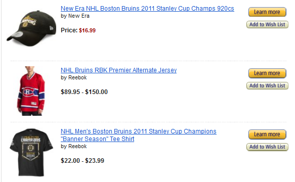 Amazon Boston Bruins alternate jersey fail