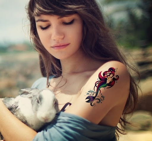 cute girls withMermaid Tattoos