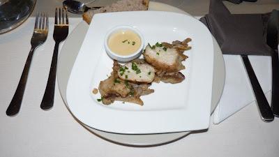 Riz de veau et pleurotes à la sauce foie gras - recette indexée dans les Entrées