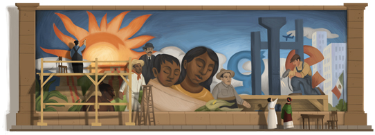 doodle Diego Rivera