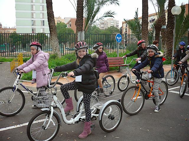 Niñas en bicicleta