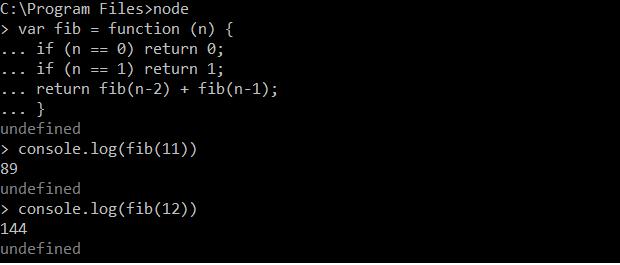 node.js command line