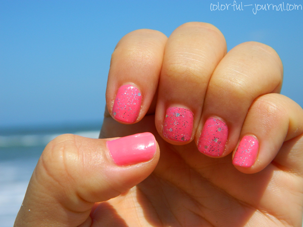 Glittery Pink Nails With Revlon Amp Opi Colorful Journal