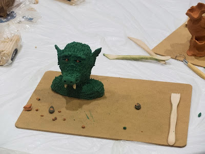 Plasticine moulding at LonCon