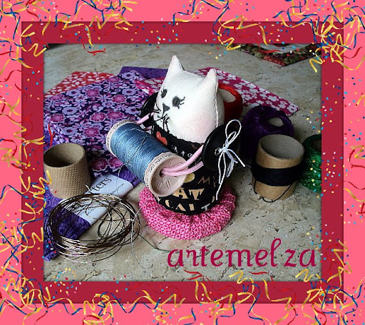 artemelza - gatinho porta linha