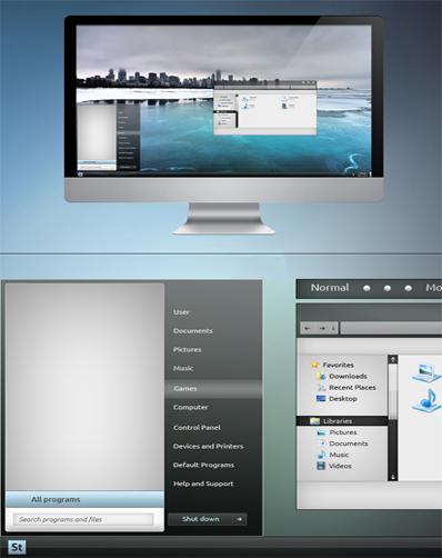 Ice Chrome Aluminium Theme For Seven,windows 7