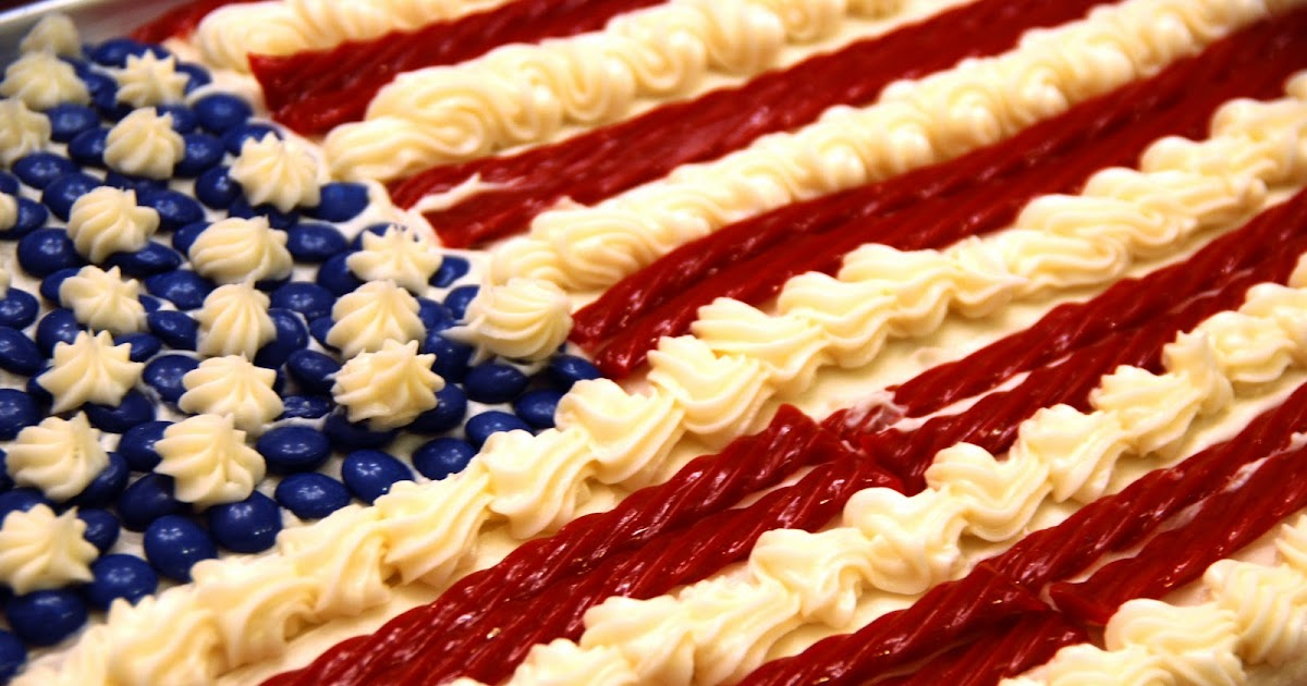 Simple Girl: Candy Topped Flag Cake