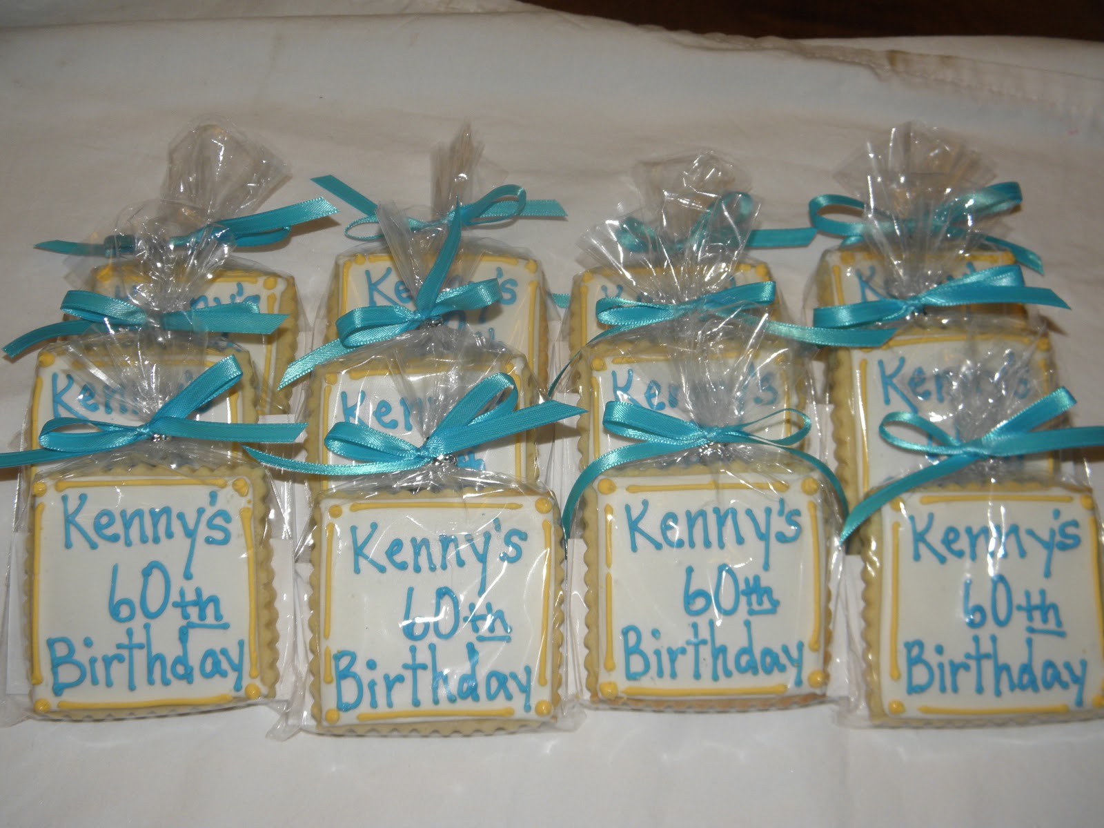 60th Birthday Cookie Favors