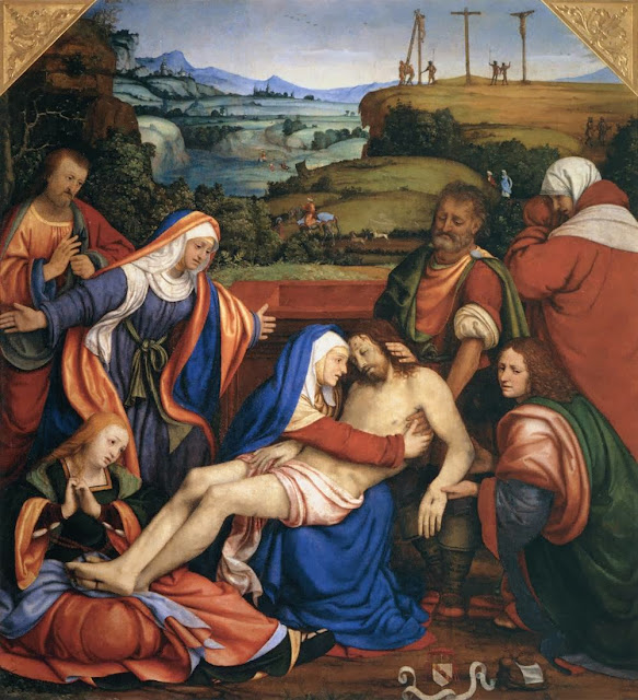 Andrea Solari - Lamentation over the Dead Christ