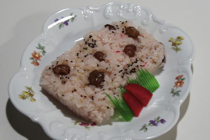 写真:お祝いの赤飯