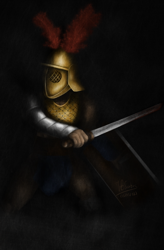Gladiator inspired by Starz's Spartacus TV Series, using MyPaint and Krita.