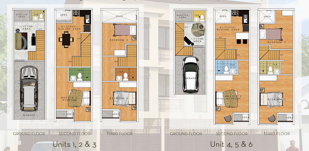 10th avenue townhomes cubao commercial residential for Townhome layouts