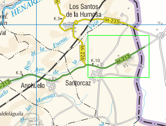 Reparación del firme de la carretera M-213 en Anchuelo y Santorcaz