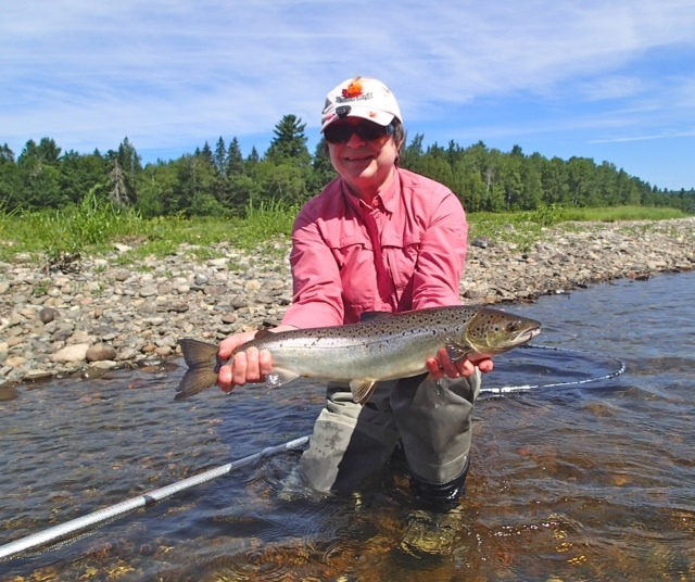 Rod 39 s miramichi fishing reports river up in the alders on for Seven b s fishing report