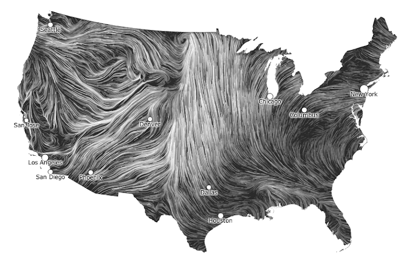 Wind map picture