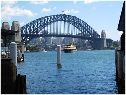 Sydney Harbour Bridge and the Manly ferry, from Circular Quay