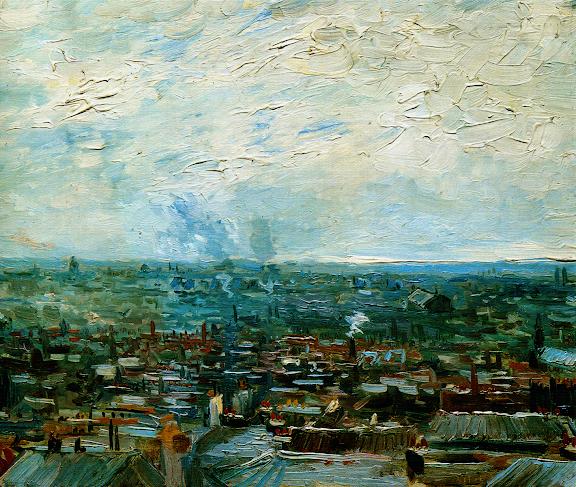 Vue de Paris prise de Montmartre
