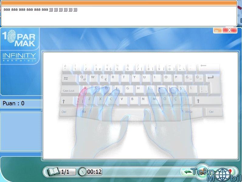 10 Parmak Klavye Kullanımı Programı İndir Full
