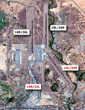 Obras de renovación de la pista 14L-32R en el Aeropuerto de Barajas