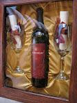 Closeup of the wine box