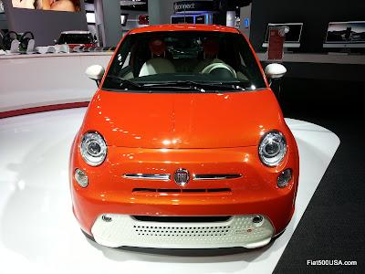 Fiat 500e at Detroit Auto Show