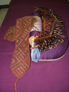 Kathy's pillow and scarf