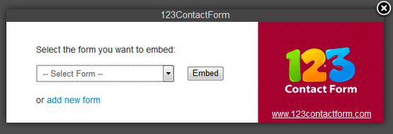 Joomla contact form