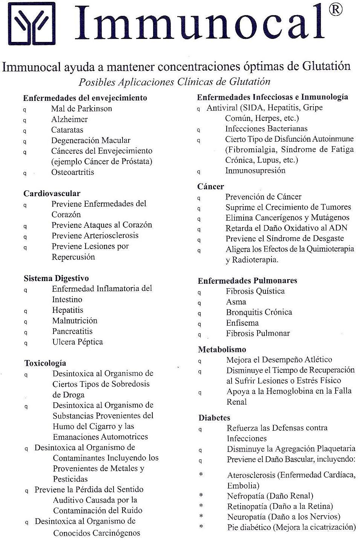 Antioxidante Immunocal Glutation Immunotec
