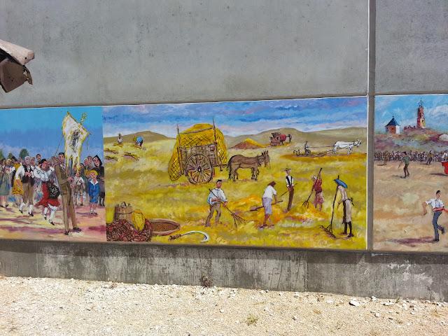 mural la siega,Pascual Aranda