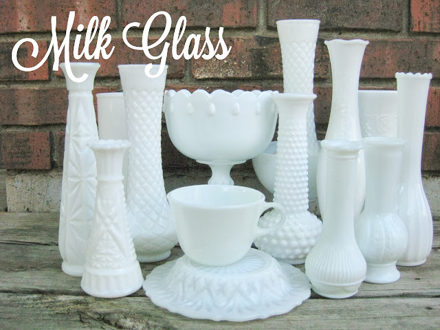 Vintage milk glass for rent from Momentarily Yours Events at www.momentarilyyours.com