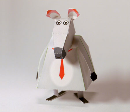 Office Rat Paper Toy