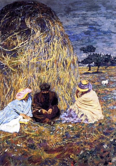 Édouard Vuillard - Panel for Prince Emmanuel Bibesco. The Haystack