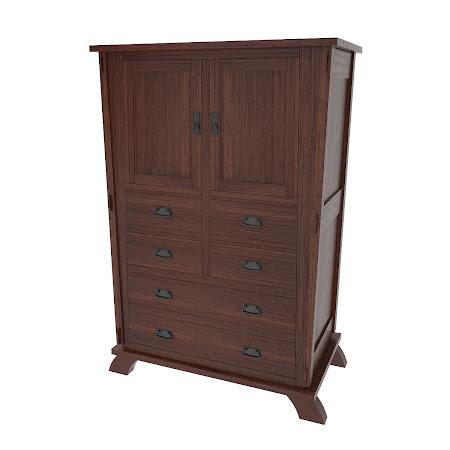 Baroque Armoire Dresser, Stormy Walnut