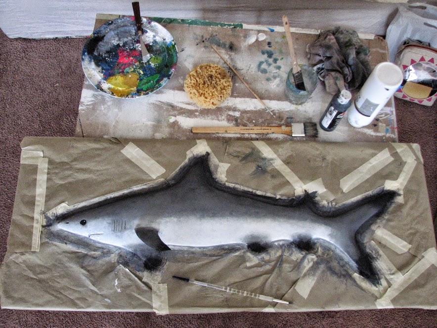 shark painted