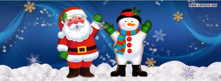 Capas para Facebook Papai Noel