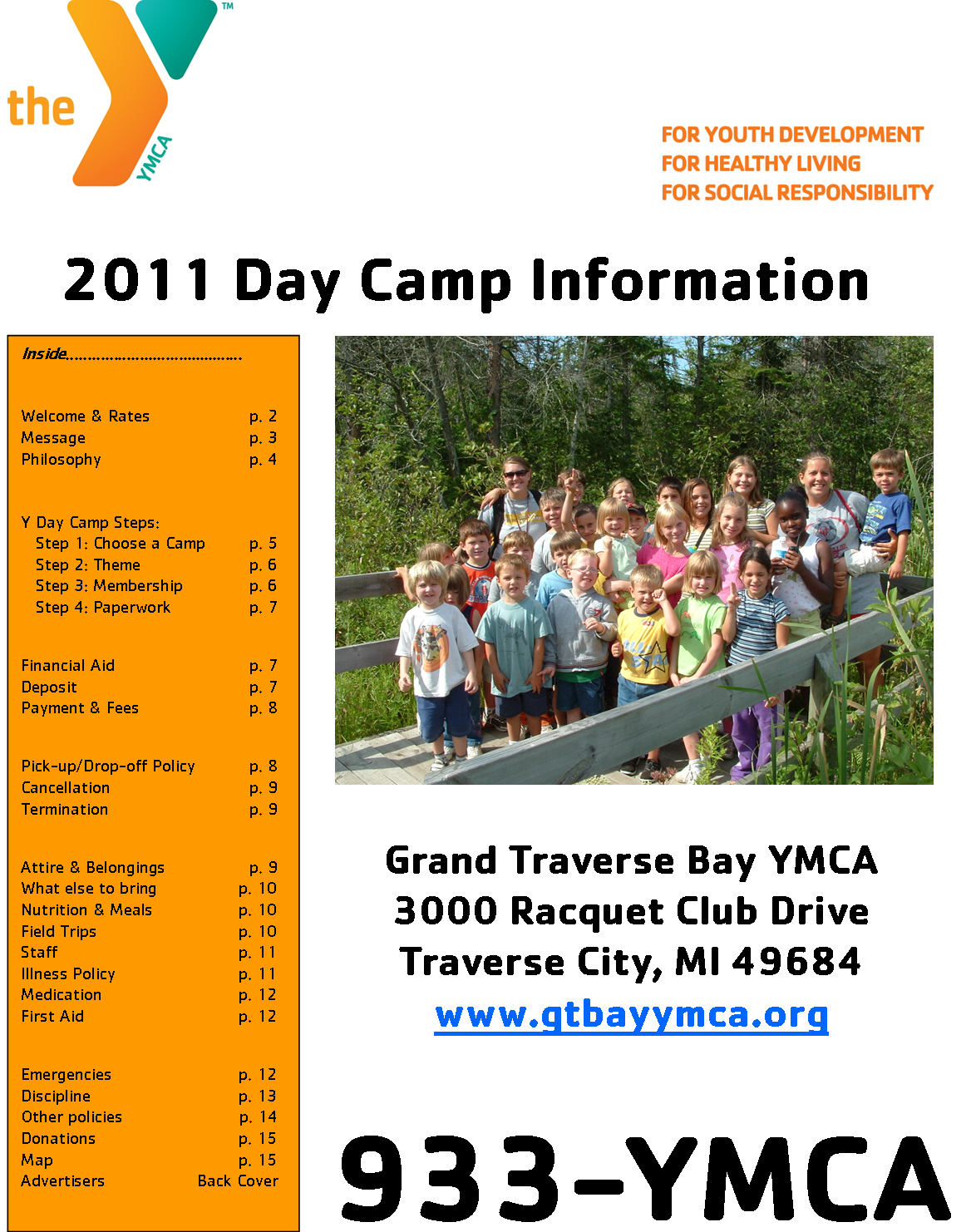 Day c information booklet summer c develops youth s potential