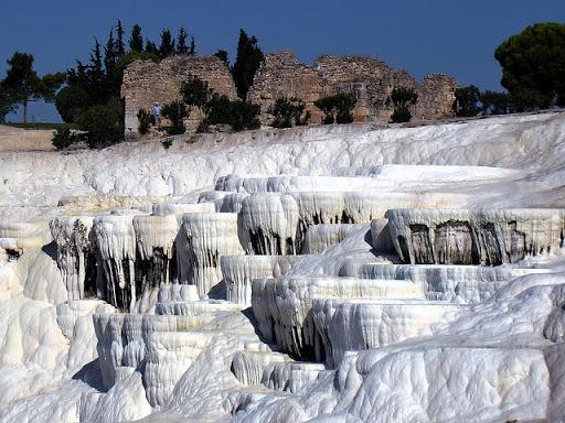 باموكالى قلعه القطن بتركيا